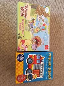 Rescue squad (6 puzzles) and Winnie the Pooh puzzle. NOW SOLD