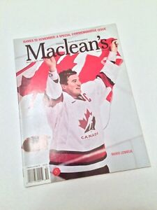 CANADA OLYMPIC GOLD 2002 MACLEAN'S MARIO LEMIEUX COVER MINT London Ontario image 1