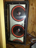 Audiovox Jensen BP212 Bandpass Subwoofer Box with LED's - 12""
