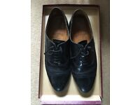 Designer Grenson black brogue men's shoes size 8 reduced
