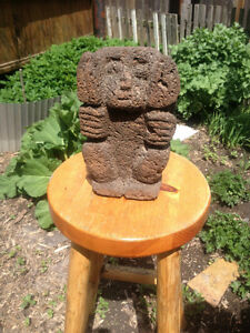 Ancient PRE-COLUMBIAN Aztec Art, Artifact, LAVA ROCK carving