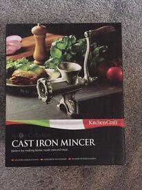 Cast iron mincer - kitchen craft - chef