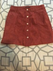 F21 Faux Suede Skirt