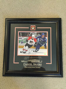 **SPECIAL** DANIEL BRIERE SIGNED FLYERS PHOTO FRAMED/ COA