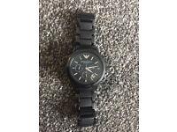 Emporio Armani Watch Ceramic 100% Genuine Quick Sale £80