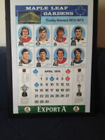 1974 EXPORT A CALENDER (TROPHY WINNERS)