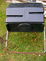 Spinning composter horizontal
