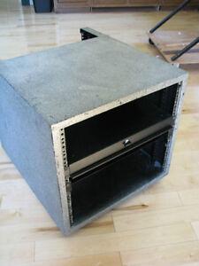 "18"" audio/video equipment rack with shelves"