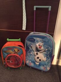 Disney frozen and finding nemo suitcase hand luggage