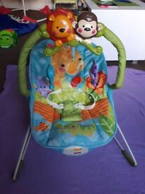 Fisher Price bouncer vibration music great condition clean tidy