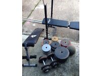 BIG OFFER!!Weights ; benchs;tower andProForm 3.6 Treadmill