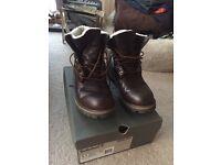 Men's Timberland Sheepskin Roll top boots