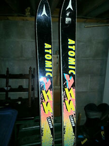 Atomic 190 cm Downhill Skis and Solomon Boots
