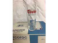 Coors Light half pint glasses