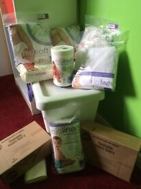 BAMBIO MIO NAPPIES, BRAND NEW CLEANING KIT AND ROLLERS