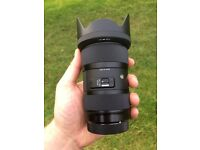 Sigma 18-35 MM art lens gh4 camera canon fit f1.8