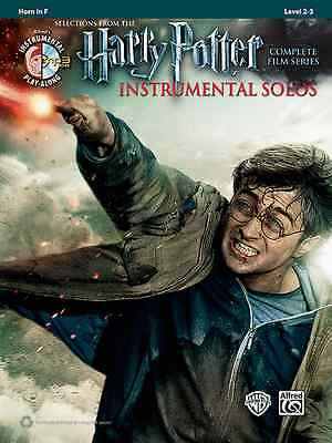 HARRY POTTER-INSTRUMENTAL SOLOS-FRENCH HORN-MUSIC BOOK/CD FILM SERIES NEW -