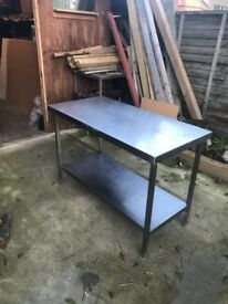 Commercial stainless steel table/worktop