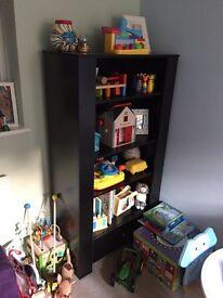 Black bookcase & sideboard
