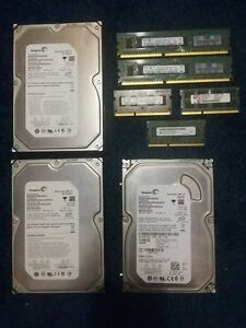 DDR3 RAM & 7200RPM HARD DRIVES SELLING AS BUNDLE