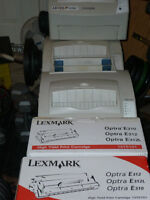 THREE 3 LEXMARK E310 LASER PRINTER PLUS TWO NEW TONER CARTIDGES