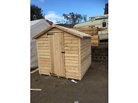 6x6 heavy duty overlap shed