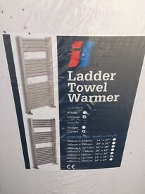 Chrome Ladder Towel Warmer - Curved