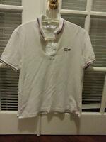 Lacoste Mens Polo White Medium Sz 4