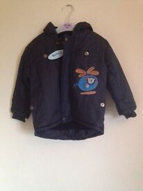 new with tags boys winter coat 18-24 mths
