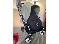 Bugaboo Bee stroller / pram, footmuff / liner, parasol and two hoods