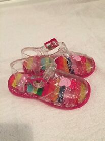 Pepper Pig Jelly Shoes size 7