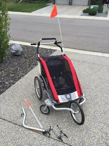 Double Chariot with bike, jogging and stroller accessories