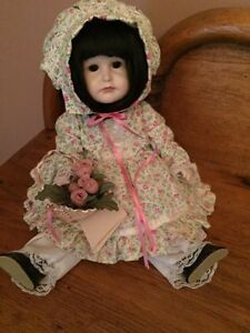 porcelain doll - girl with bonnet