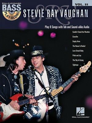 Stevie Ray Vaughan Sheet Music Bass Play-Along Book and CD NEW 000146154