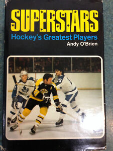 NHL superstars of 1973 featured in hard cover book, Andy O'Brien