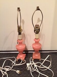 Antique Alabaster Lamps