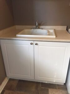 Laundry Room cabinets and sink London Ontario image 2