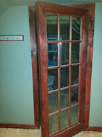 French door, trim, dresser drawers