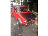 Classic mini fitted with a zx9r bike engine rear wheel drive