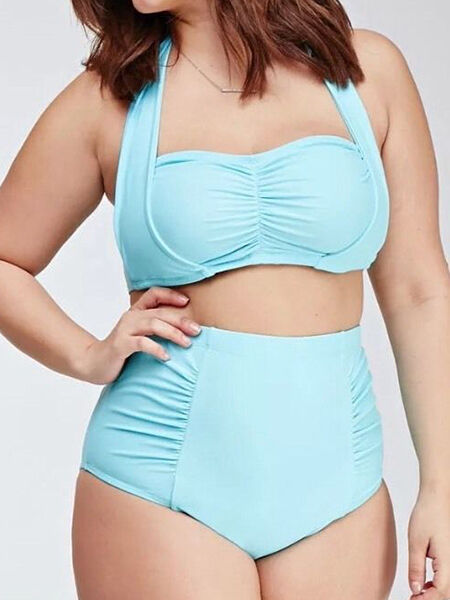 Forever 21 Plus Size High Waisted Swimsuit