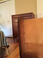 Vintage 1960s Walnut Bedroom Set