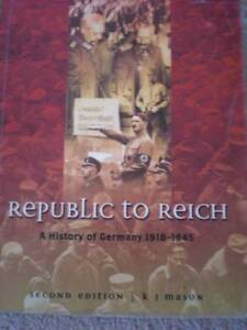 Republic to Reich A history of Germany******1945 Cottesloe Cottesloe Area Preview