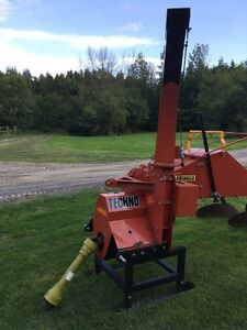 "8"" wood chipper almost new"