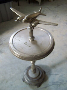 DC 3 Floor model Airplane Art Deco Ashtray