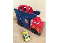 Mega blocks transporter and car slide with car