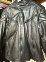 Ladies Small Leather Motorcycle Jacket