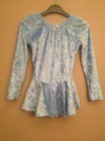 Childs shimmery blue figure skating dress for sale - size 10