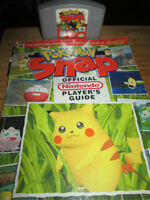 ***VINTAGE NINTENDO N64 POKEMON SNAP GAME AND PLAYERS GUIDE!!!**