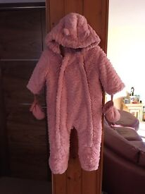 Pink cosy suit £3