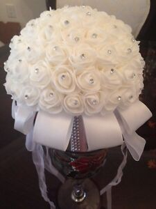 White Crystal Bridal Bouquet